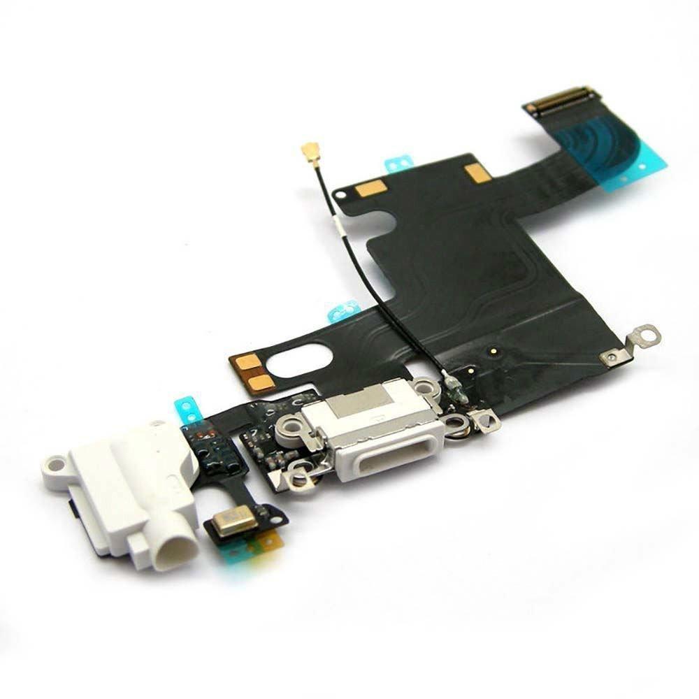White Headphone Audio Dock Connector Charging USB Data Port Flex Cable Apple iPhone 6