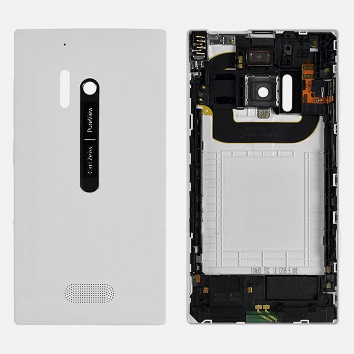 USA OEM Nokia Lumia 928 Back Cover Housing with Camera Lens & Button Keys White