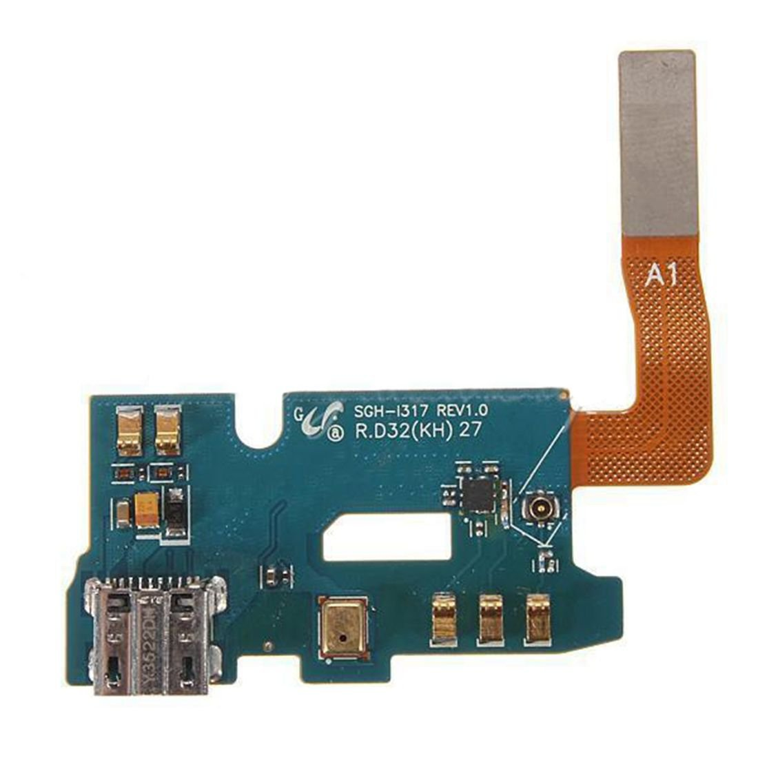 Samsung Galaxy Note 2 II i317 Micro USB Charger Charging Flex Port Microphone US