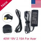 19V 2.15A 40W AC Adapter Laptop Charger Power Supply Cord for Acer Aspire One