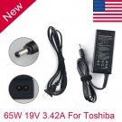 AC Adapter Charger 65W Toshiba Satellite PA3714U-1ACA LAPTOP Power Supply Cord