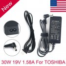 30W AC Adapter Laptop Charger for Toshiba NB100 NB305 NB505 PA3743U-1ACA Power