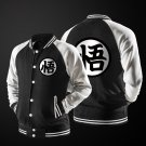 Dragon Ball Goku Mandarin Collar Black Autumn Baseball Varsity Jacket
