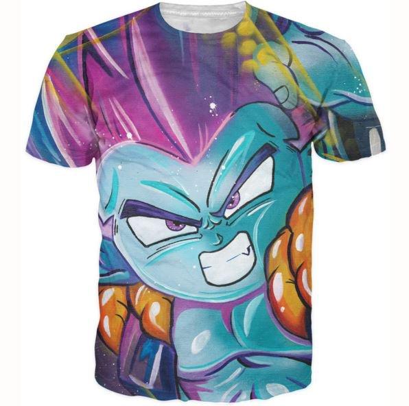 DBZ Fusion Dance Gotenks Goten Trunks 3D T-Shirt