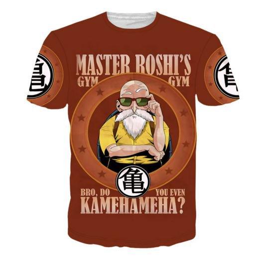 Master Roshi Gym Bro Do You Even Kamehameha Funny T-Shirt