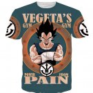 Vegeta's Gym Power From Pain Funny DBZ T-Shirt