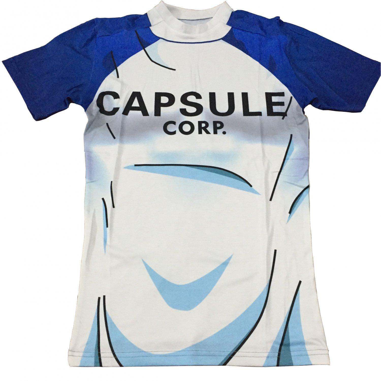 Teen Future Trunks Capsule Corp 3D White Blue T-Shirt