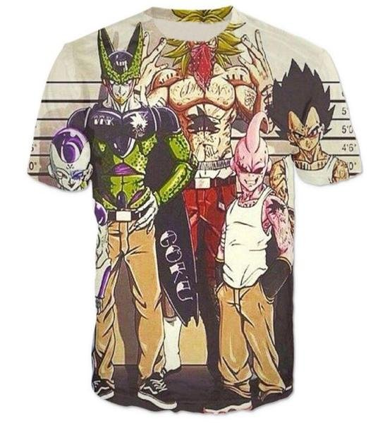 Usual Suspects Dragon Ball Z Wanted Vintage T-Shirt