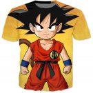 Cute Young Kid Goku Yellow Dragon Ball 3D T-Shirt