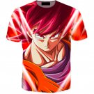Pissed Red Haired Son Goku God Mode 3D T-Shirt