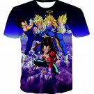 Prince Vegeta All Forms Super Saiyan Transformation 3D T-Shirt