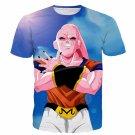 Majin Buu Wearing Goku Clothes Blue 3D Fashion T- Shirt