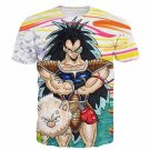 Raditz Funny Illustration Scouter Armour Colorful DBZ Cool 3D T-Shirt