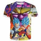 Golden Frieza Super Saiyan God Goku Vegeta Blue Hair 3D T- Shirt