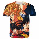 Goku Evolution from Kid to SSJ3 Transformation Dopest 3D T- Shirt