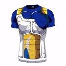 Vegeta Damaged Saiyan Battle Armor Workout Compression 3D T-Shirt