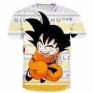 Funny Candy Cute Jumping Young Kid Goku Letters Classic T- Shirt