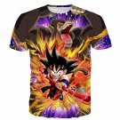 Great Ape Monkey Warrior Angry Kid Goku Fighting 3D T- Shirt