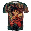 Kid Young Goku Vintage Tie Dye Painting Stylish DBZ 3D T- Shirt
