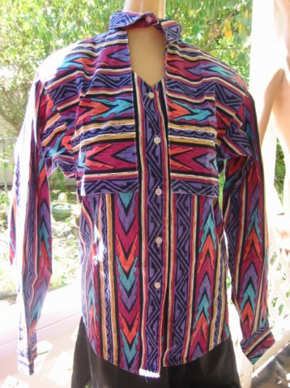 LOT .. 5 ..Western Urban cowgirl SHIRTS top Cape Rocky L