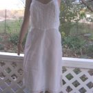 Vintage Slip 60s Barbizon Tafredda Taffeta White Lacy Dress Slip Zipper S
