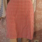 Vintage Tommy Hilfiger Red Check Cotton Mini Skirt S M