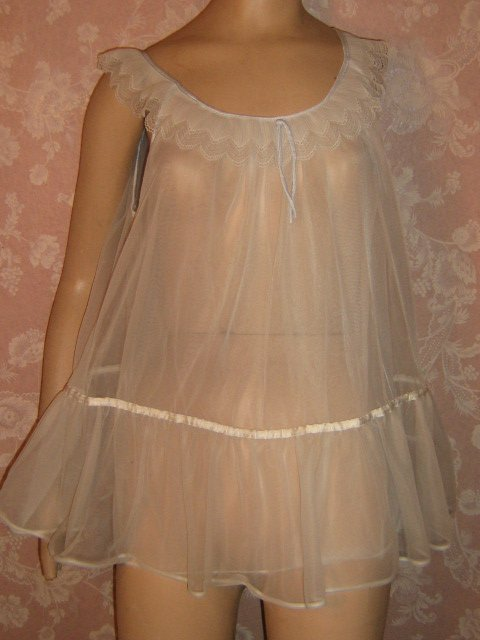 Sold After Eight Vintage Nightgown Babydoll Xs S Sheer
