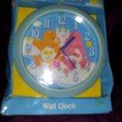 Vintage Care Bears Wall Clock NIB  Love A Lot Friend Bear Blue
