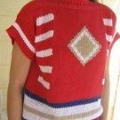 vintage 70s Ladies Sweater top NWT Short Sleeve small Batteau