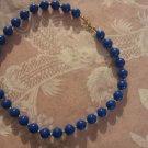 Vintage Necklace Monet Blue Bead Gold Spacers 70s Estate piece vintage jewelry