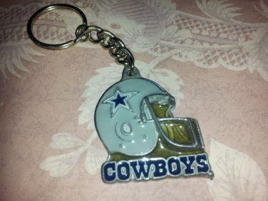 Vintage Dallas Cowboys Key chain 1980s Pewter Cowboys Football Enamel Metal Licensed Dallas Cowboy
