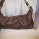 bisou bisou brown vegan gold tone studs fun shape purse handbag