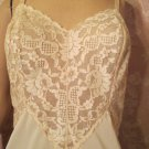 Vanity Fair Vintage Full Dress Slip XS S All Lace Bodice over Chiffon Mini Slip