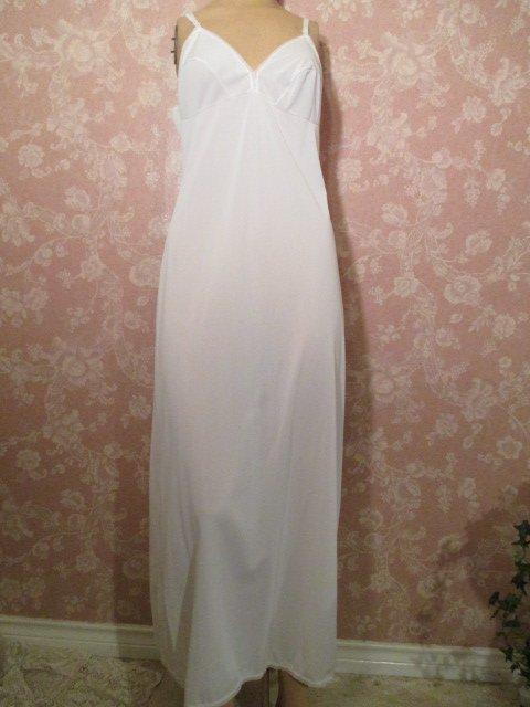 Lorraine Vintage White Full Slip Long Floor Length Maxi