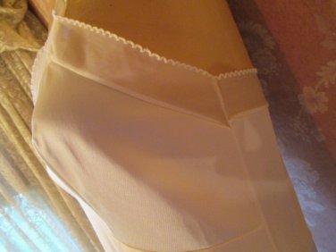 Vintage 60s Full Dress Slip cream Chiffon size 34 XS S Silky Antron III Nylon no lace picot trim