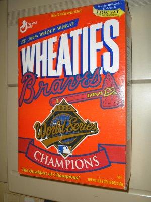 1995 Braves World Series Wheaties Box.