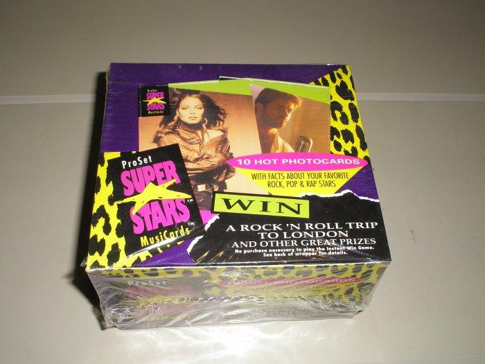 1991 Pro Set Music Super Stars MusiCards Box