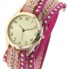 STUDDED CHAIN ACCENT WRAP WATCH