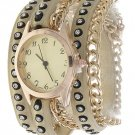 CRYSTAL CHAIN WRAP WATCH