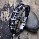 Vintage Men's Metal Anchor Steel Bracelet