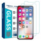 Tech Armor Apple iPhone X (iPhone 10) Ballistic Glass Screen Protector 2pack NEW