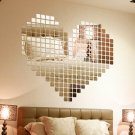 100 Piece Self-adhesive Tile 3D Mirror Wall Stickers Decal Mosaic Room Decoratio