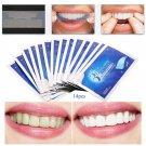 Teeth Whitening Gel Strips White 28pcs Light Guide Dental Shade Oral Toothpaste