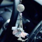New Luxury Car Pendant Diamond Crystal Ball Charms Ornaments Hanging Decoration