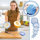 SCUTE LIDS 6 Pcs Universal Silicone Suction Lid-bowl Pan Cooking Pot Lid-silicon