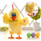 Hilarious Egg Laying Chicken Laying Egg Electric Plush Crazy Chicken with Lights