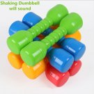 2 Piece Child Baby Fitness Multi-colored Plastic Dumbbell Toy Sports