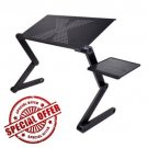 ChillDesk - Notebook Cool Stand Laptop Table For Bed Folding Table Adjustable