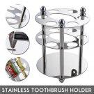 Stainless Steel Toothbrush Razor Holder Bathroom Sticking Wall Mount Stand Rack