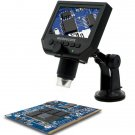 G600 Digital Portable 1-600X 3.6MP Microscope Continuous Magnifier with LCD